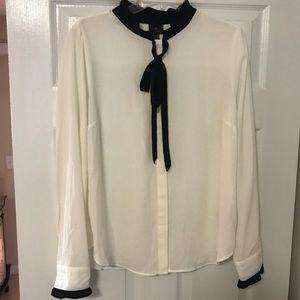 Worthington white button down blouse
